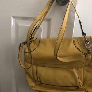 Like New Leather yellow crossbody by fossil